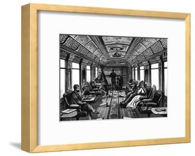 Saloon Car on the Orient Express, C1895--Framed Giclee Print