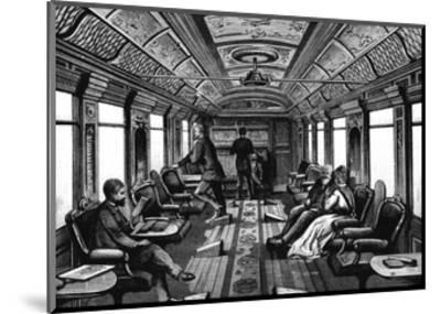 Saloon Car on the Orient Express, C1895--Mounted Giclee Print