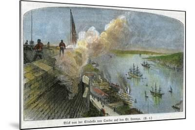 View over the St Lawrence River from the Citadel of Quebec, Canada, C1875--Mounted Giclee Print