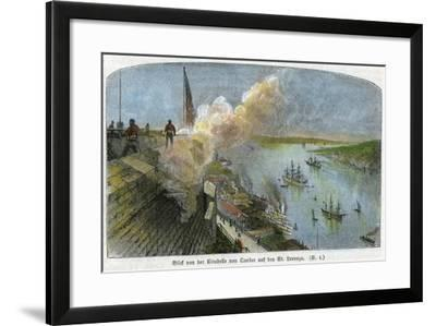 View over the St Lawrence River from the Citadel of Quebec, Canada, C1875--Framed Giclee Print