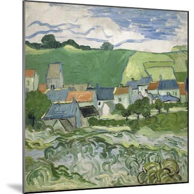 View of Auvers, 1890-Vincent van Gogh-Mounted Giclee Print