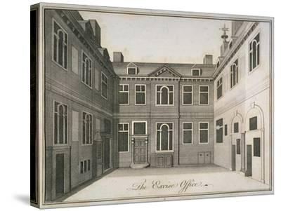 Inner Courtyard of the Excise Office, Old Broad Street, City of London, 1800--Stretched Canvas Print