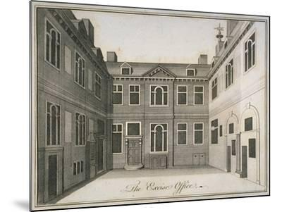 Inner Courtyard of the Excise Office, Old Broad Street, City of London, 1800--Mounted Giclee Print