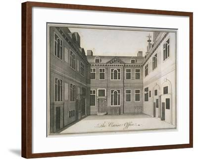 Inner Courtyard of the Excise Office, Old Broad Street, City of London, 1800--Framed Giclee Print