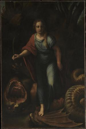 Saint Margaret, Ca 1518-Raphael-Stretched Canvas Print