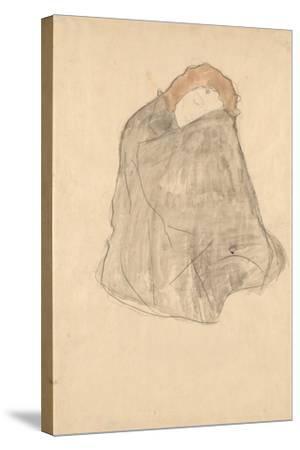 Woman Seated, 1908-1909-Gustav Klimt-Stretched Canvas Print