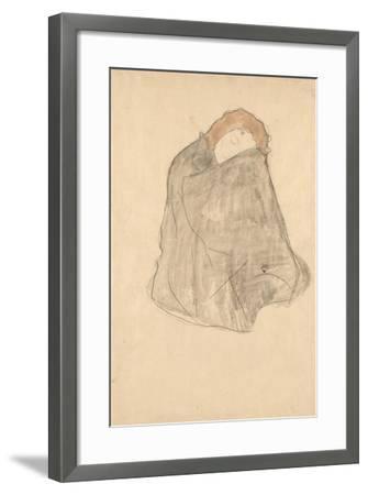 Woman Seated, 1908-1909-Gustav Klimt-Framed Giclee Print