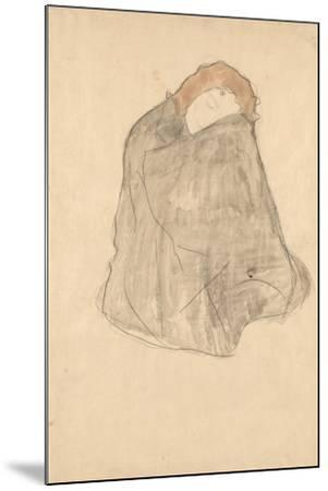 Woman Seated, 1908-1909-Gustav Klimt-Mounted Giclee Print