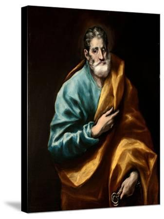 Peter the Apostle-El Greco-Stretched Canvas Print