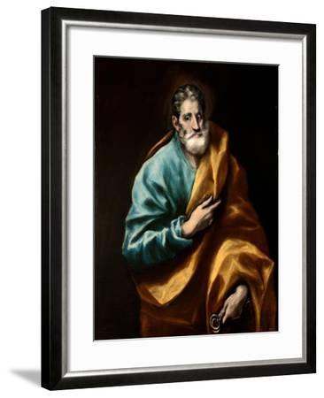 Peter the Apostle-El Greco-Framed Giclee Print