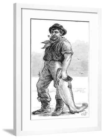 Typical Cape Cod Fisherman, 1875--Framed Giclee Print