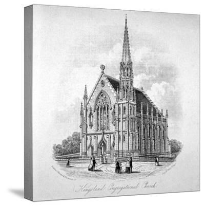 Kingsland Congregational Chapel, Kingsland Road, Hackney, London, 1853--Stretched Canvas Print