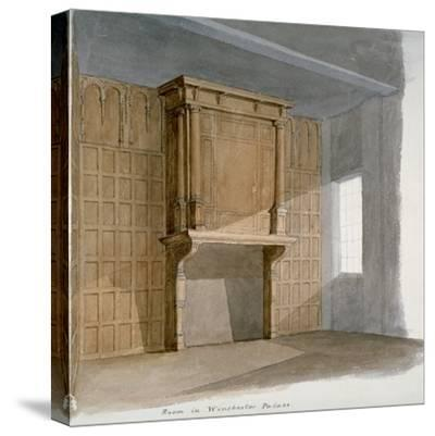 Interior of a Room in Winchester House, Winchester Place, London, C1830--Stretched Canvas Print