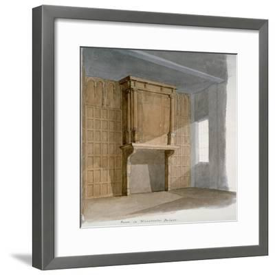 Interior of a Room in Winchester House, Winchester Place, London, C1830--Framed Giclee Print