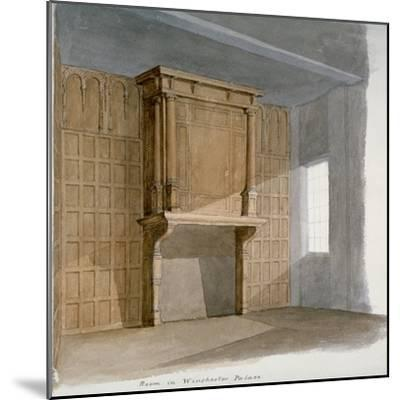 Interior of a Room in Winchester House, Winchester Place, London, C1830--Mounted Giclee Print