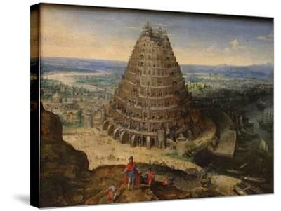 The Tower of Babel, 1594-Lucas van Valckenborch-Stretched Canvas Print