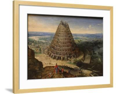 The Tower of Babel, 1594-Lucas van Valckenborch-Framed Giclee Print