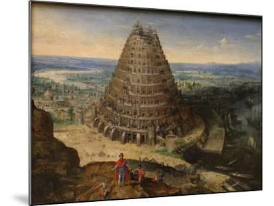 The Tower of Babel, 1594-Lucas van Valckenborch-Mounted Giclee Print