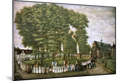 A Procession in Bruges at the End of the 19th Century,' 19th Century--Mounted Giclee Print