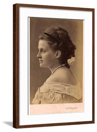 Portrait of Grand Duchess Olga Constantinovna of Russia (1851-192), 1870S--Framed Giclee Print
