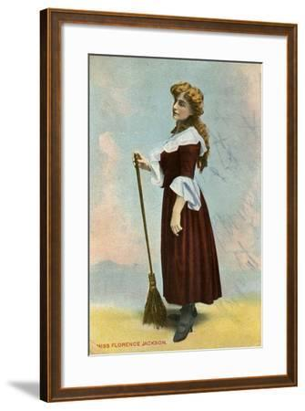 Florence Jackson, British Actress, C1908--Framed Giclee Print