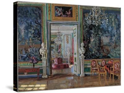 Interior in the Kuskovo Palace, 1917-Stanislav Yulianovich Zhukovsky-Stretched Canvas Print
