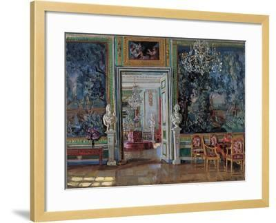 Interior in the Kuskovo Palace, 1917-Stanislav Yulianovich Zhukovsky-Framed Giclee Print