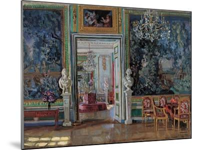 Interior in the Kuskovo Palace, 1917-Stanislav Yulianovich Zhukovsky-Mounted Giclee Print