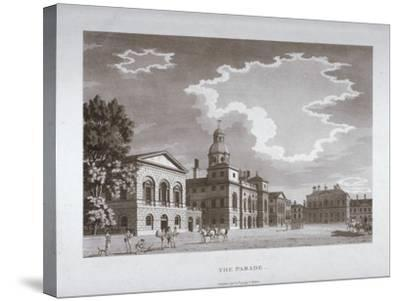 View of the Parade at Horse Guards, Westminster, London, 1794--Stretched Canvas Print