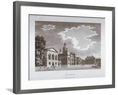 View of the Parade at Horse Guards, Westminster, London, 1794--Framed Giclee Print