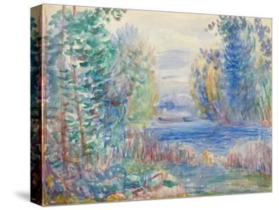 River Landscape, 1890-Pierre-Auguste Renoir-Stretched Canvas Print