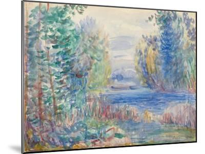 River Landscape, 1890-Pierre-Auguste Renoir-Mounted Giclee Print