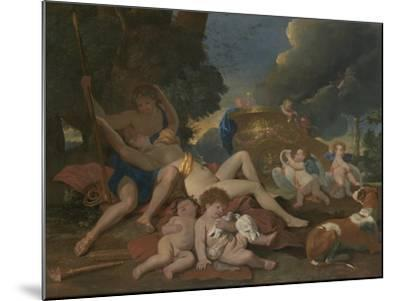 Venus and Adonis-Nicolas Poussin-Mounted Giclee Print