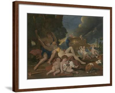 Venus and Adonis-Nicolas Poussin-Framed Giclee Print