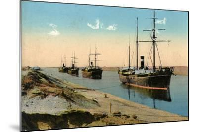 Steamers Passing Through the Suez Canal, Egypt, 20th Century--Mounted Giclee Print