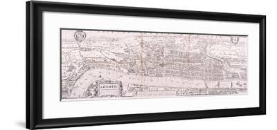 Map of London, C1560--Framed Giclee Print