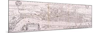 Map of London, C1560--Mounted Giclee Print