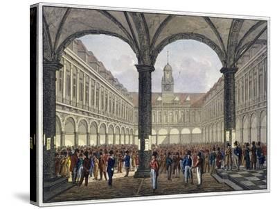 Royal Exchange (2N) Interior, London, C1830--Stretched Canvas Print