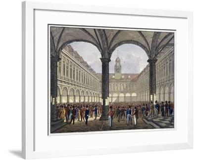 Royal Exchange (2N) Interior, London, C1830--Framed Giclee Print