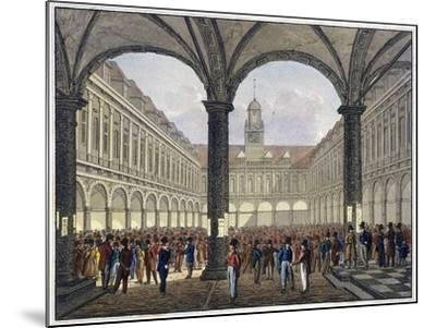 Royal Exchange (2N) Interior, London, C1830--Mounted Giclee Print
