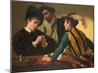 The Cardsharps-Caravaggio-Mounted Giclee Print