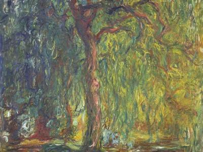Weeping Willow-Claude Monet-Framed Giclee Print