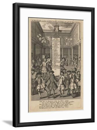 Wind Dealers Dropping Money..., Ca 1720- Schmid-Framed Giclee Print