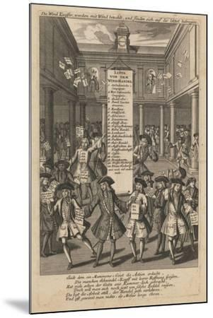 Wind Dealers Dropping Money..., Ca 1720- Schmid-Mounted Giclee Print