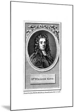 William King, English Poet--Mounted Giclee Print