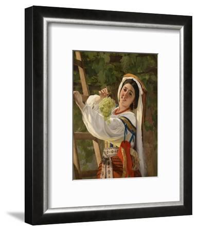A Laughing Girl in South Italian Dress, 1857-Yevgraf Semyonovich Sorokin-Framed Giclee Print