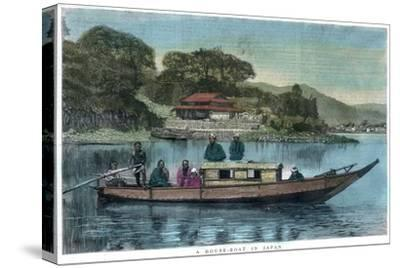 A House-Boat in Japan, 1888--Stretched Canvas Print