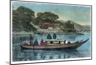 A House-Boat in Japan, 1888--Mounted Giclee Print