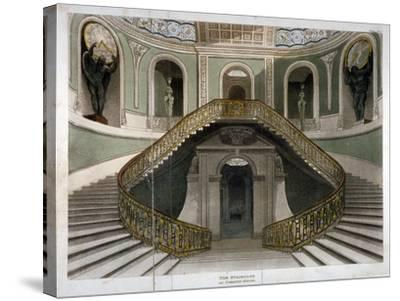 View of the Staircase at Carlton House, Westminster, London, C1811--Stretched Canvas Print