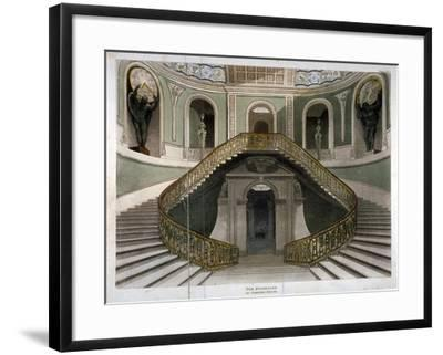View of the Staircase at Carlton House, Westminster, London, C1811--Framed Giclee Print